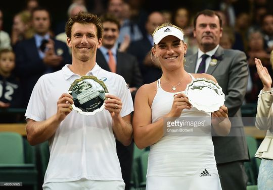 during day thirteen of the Wimbledon Lawn Tennis Championships at the All England Lawn Tennis and Croquet Club on July 12, 2015 in London, England.